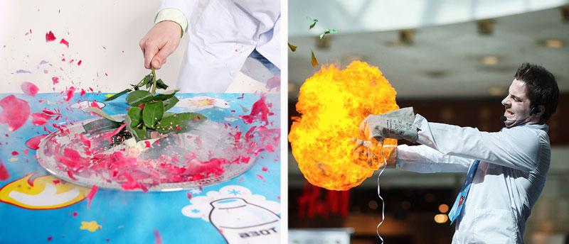 химические опыты на детском празднике