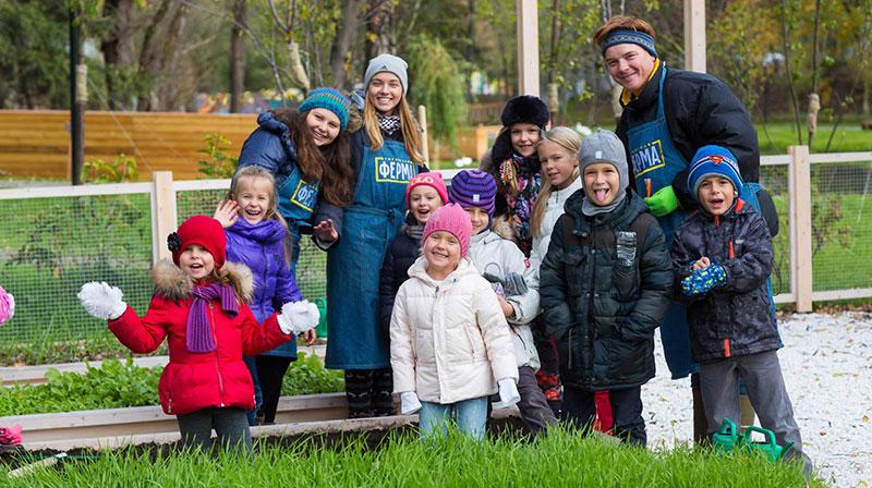 детский праздник на ферме