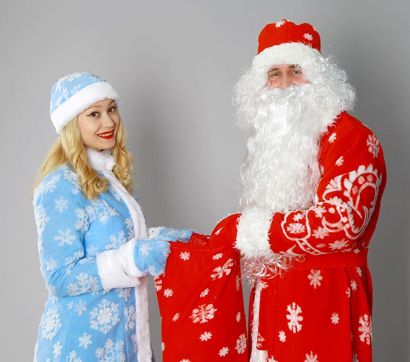 купить костюмы Деда Мороза и Снегурочки