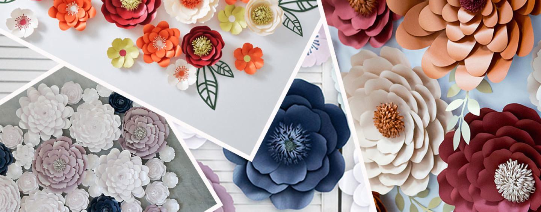 Бумажные цветы своими руками для украшения 76