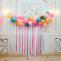 Воздушная тучка с бумажным дождем: простое и быстрое оформление из шаров и разноцветных лент