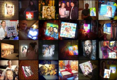 Универсальный подарок: дизайнерский фото-светильник с личными фотографиями