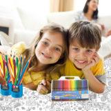 Гигантские раскраски: идея для длинных праздников с большим количеством детей