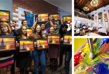 Картина маслом за 3 часа: корпоратив и юбилей с творческим настроением. Сколько участников — столько картин!