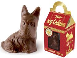 шоколадная фигурка собаки