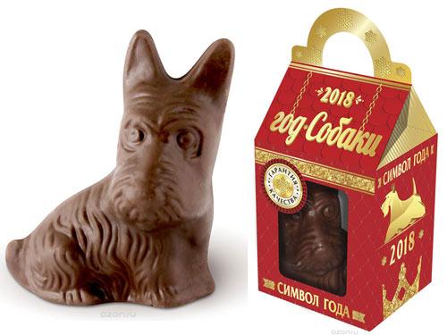фигурка шоколадной собаки