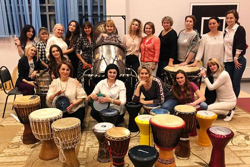 мастер-класс по барабанам на мероприятии