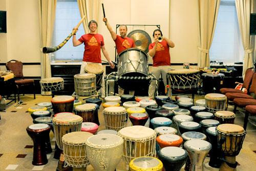 тимбилдинг с барабанами