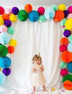 оформление праздника бумажными шарами