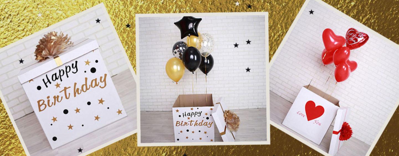 Коробка с сюрпризом для поздравления юбиляра
