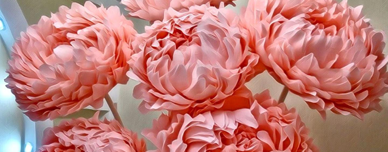 Ростовые цветы (бумага, изолон, фоамиран) для оформления фотозон и витрин
