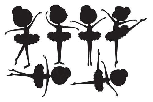 Шаблон балерины для открытки, бабушке открытку доченьке