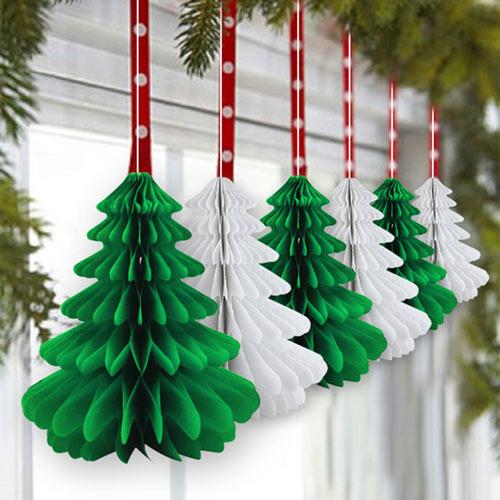 готовые бумажные украшения на новый год
