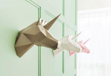 Полигональные  маски и фигуры: грани картонного творчества