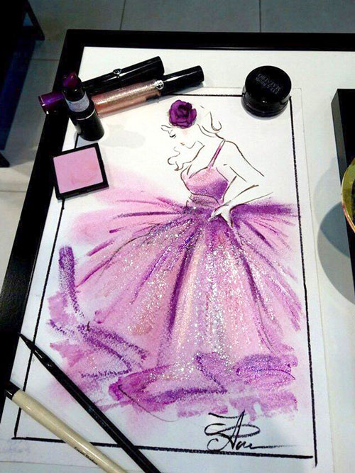 рисование косметикой