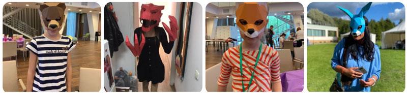 полигональные маски мастер-класс