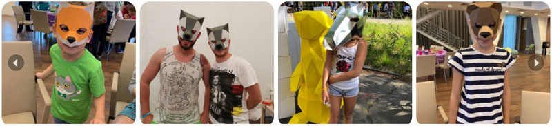 мастер-класс полигональные маски из картона