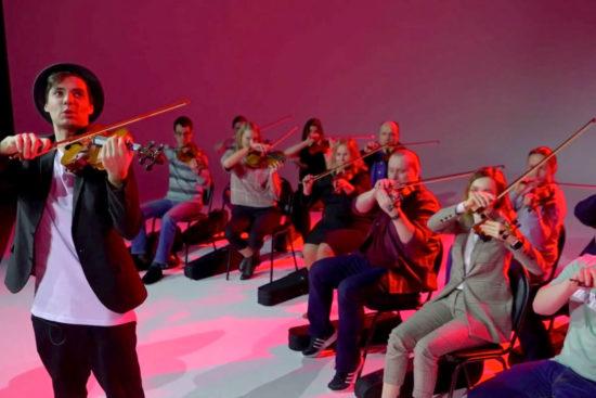 музыкальный тимбилдинг на скрипках