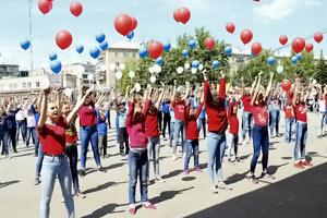 танцевальный шлешмоб к юбилею школы