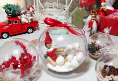 Раскрывающие пластиковые шары: идеи миниатюрных подарков и елочных украшений